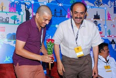 Producers, Dil Raju and D Suresh Babu in Hyderabad