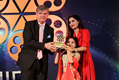 IIFTC Awards - H.E. Milan Hovorka The Ambassador of CZECH Republic with Baby Abida Hussain from Adam Joan