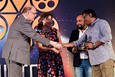 IIFTC Awards  - CG of Norway  Ann Ollestad & CG of Sweden Nils Eliasson presenting to Director & Producer of Amazon Obhijaan