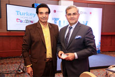 Dheeraj Kumar and HE Burak Akçapar - Ambassador of Turkey